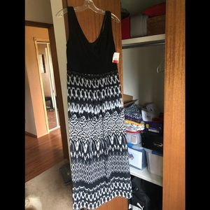 Connected Apparel Lined Maxi dress